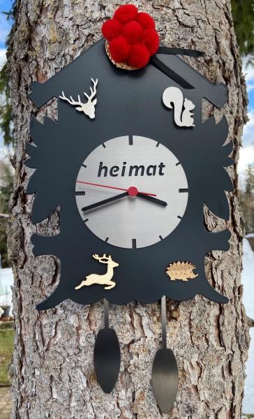 Schwarzwalduhr anthrazit