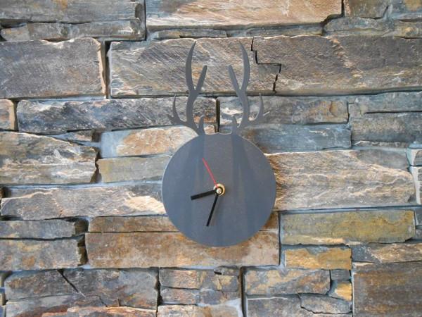 Uhr Hirschkopf anthrazit
